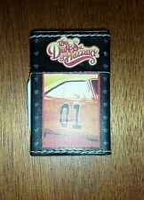 DUKES OF HAZZARD Butane Lighter New Old Stock Leather Feel Works General Lee 01