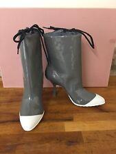MIU MIU Nib Pointy Toe Patent Heels Boots  Size UK 4/EU 37 £650