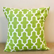 """18"""" (45cm) GREEN AND WHITE MOROCCAN PATTERN Cushion Cover. Made Australia"""