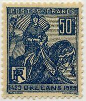 "FRANCE STAMP TIMBRE N° 257 "" ORLEANS JEANNE D'ARC 50 C BLEU "" NEUF xTB"