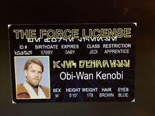 fun Star Wars Obi Wan Kenobi Evan McGregor Jedi fake Id id card Drivers License