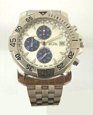 OROLOGIO uomo Acciaio SIGEL, Cronografo, WR Made in Italy movimento Miyota Japan