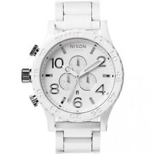 Authentic Nixon 51-30 Chronograph All White Mens Watch A0831255 SAME DAY SHIP