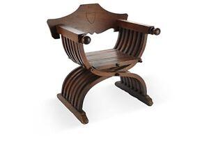 Antique Savonarola Child's Chair