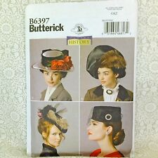 Butterick B6397 Historical Women's 4 Hat Classic Designs SEWING PATTERN uncut