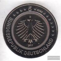 BRD 2017 D Stgl./unzirkuliert Auflage: 450.000 Polymerring: Rot 2017 5 Euro Trop