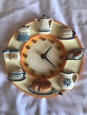 Ceramic Teatime Kitchen Wall Clock