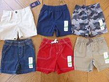 NEW 18 month Boy Shorts LOT $91 Nice Color Mix Summer clothes Elastic Waist NWT
