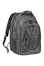 """Wenger Ibex 17"""" Backpack Shock Absorbing Shoulder Straps - Leather - 26 Litre"""