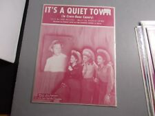 *b      THE ANDREW SISTERS--IT'S A QUITE TOWN-DANNY KAYE --SHEET MUSIC- VINTAGE