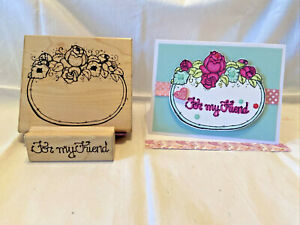 DOTS Rose Label & For My Friend Stamp Lot of 2-Mother's Day-Card-Flowers-Floral