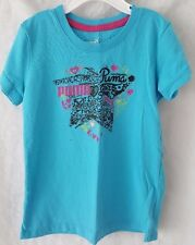 Puma Girl's Blue/Pink/Black/Green Design T-Shirt Size 6