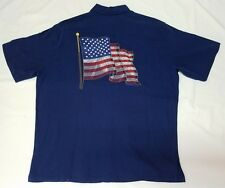 NWT Tori Richard Embroidered GLORY American Flag Mens Shirt XL US Navy Seal $158
