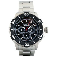 Nautica Classic Stainless Steel Analog NST 501 Men's Watch w/ Black Dial N19587G