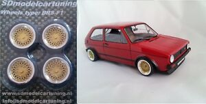 1:18 Scale BBS E50 14 INCH TUNING WHEEL SET!!  Wheellogos are now included!!