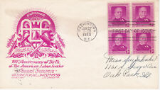 POSTAL HISTORY - FIRST DAY COVER FDC 1950 SAMUEL GOMPERS LABOR LEADER STAEHLE #2