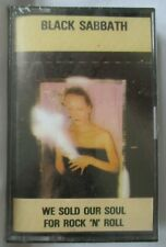 """BLACK SABBATH """"WE SOLD OUR SOLE FOR ROCK 'N' ROLL"""" IMPORT CASSETTE TAPE -  NEW"""