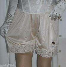 Vintage style gold silky nylon gusset french knickers panties culotte briefs