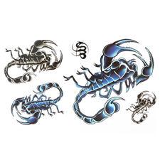 Man Scorpions Pattern Removable Body Art Decor Paper Sticker Temporary Tattoo