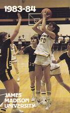 1983-84 JAMES MADISON UNIVERSITY WOMEN'S BASKETBALL POCKET SCHEDULE
