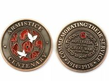 ARMISTICE DAY COMMEMORATIVE COIN Medallion Day * Poppy Peace Penny Dove