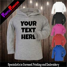Personalised Baby Hoodie (Lightweight) - Your Text Kids Toodler Gift Christening