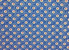 "P KAUFMANN ROSETTE COBALT BLUE FLORAL FLOWER MULTI USE FABRIC BY THE YARD 54""W"