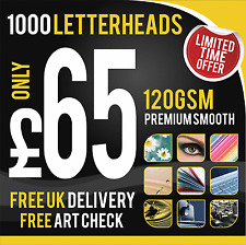 1000 A4 Letterheads Printed In Full Colour - 120gsm, single-sided