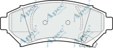 FRONT BRAKE PADS FOR OPEL SINTRA GENUINE APEC PAD1002