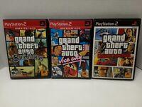 Grand Theft Auto San Andreas,Vice City, Liberty City Stories PS2 GTA Playstation