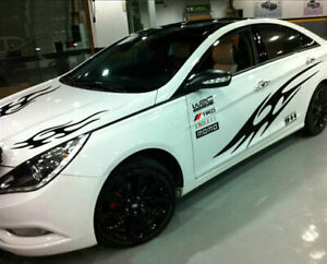 For Toyota Corolla Camry Flame Car Sticker Auto Bonnet Decal Side Door Stripes