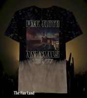 New Men's Pink Floyd Animals Tour 1977 Tie Dye Mens Vintage T-Shirt