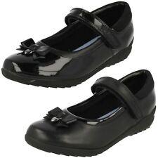 Chaussures décontractées noirs en cuir pour fille de 2 à 16 ans