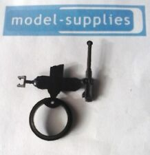 French DInky 822 M3 reproduction black plastic machine gun, ring & stand