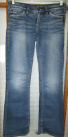 Silver Aiko Jeans Women's 28 X 33 Boot Cut Distressed
