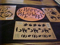 Halloween Stencil Wilton Cake or Decorating + 3 Templates Halloween Cats Witch
