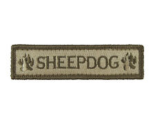 Sheepdog 1x4 Fully Embroidered Hook & Loop Morale Tags Patch SUB