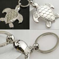 Cute Silver Tortoise Keyring Charm Pendant Bag Car Key Chain Ring Keychain Gift