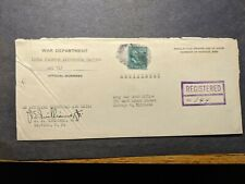 APO 715 BORALOD, NEGROS, PHILIPPINES 1945 Registered WWII ESSENTIAL Army Cover