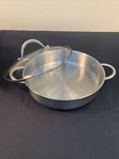 Kuhn Rikon Daily Skillet 28cm Buffet Pan Stainless Steel Glass Lid Swiss Made