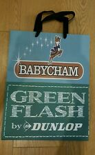 Dunlop Babycham Green Flash carrier gift bag medium collectors item