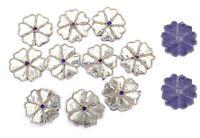 Indian Floral Appliques Zari Work Decorative Applique Supplies Patches 10 PC Set