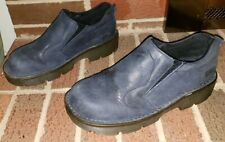 DR MARTENS NAVY BLUE LEATHER AIR CUSHION CLOGS WOMEN'S SIZE 5