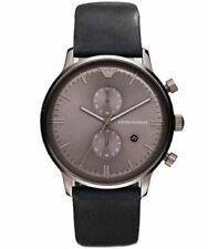 New Emporio Armani AR0388 Mens Leather Strap Luxury Watch Designer UK - Seller