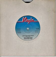 """Yellow Dog - 7"""" - Just One More Night - 1978 Virgin Records VS 195"""