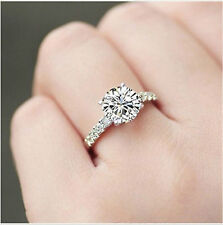 Moissanite Solitaire Ring 1.50 Ct Near White Engagement Ring 925 Sterling Silver