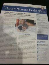 HARVARD MEDICAL SCHOOL HARVARD WOMEN'S HEALTH WATCH NEWSLETTER MAY 2019 NEW