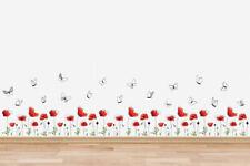 Walplus Poppy Flower Skirting Wall Sticker Decals Art Room Home Decorations