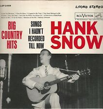 """Hank Snow """"Songs I Hadn't Recorded Till Now"""" RCA LSP-2458 """"I Love You Because"""""""
