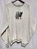 Field Master Mens Deer Print Large Sweater